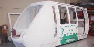 Poliester reforzado con fibra de vidrio para trenes