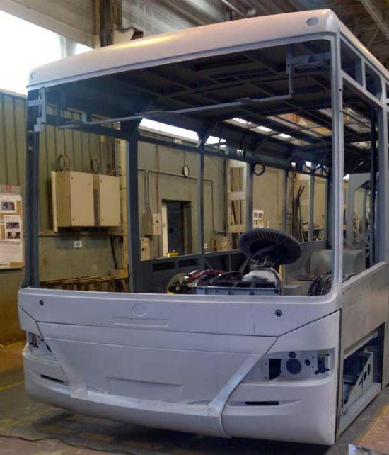 Piezas en poliester para la industria del autobús - Mafisan poliéster