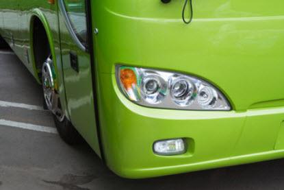 Piezas en poliester de autobuses
