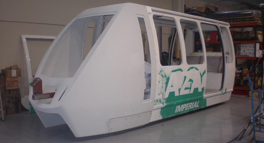 Monorail de resina de poliéster